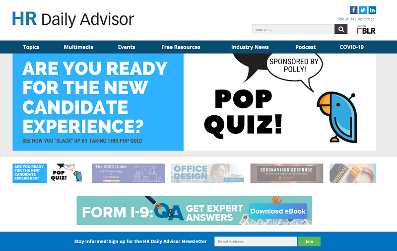 HR daily advisor blog homepage