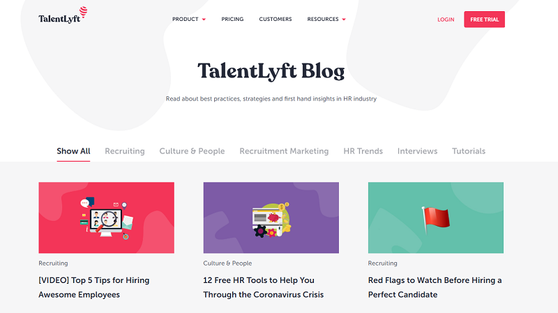 talentlyft hr blog homepage