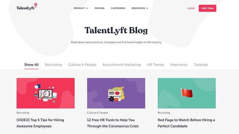 talentlyft hr blog homepage