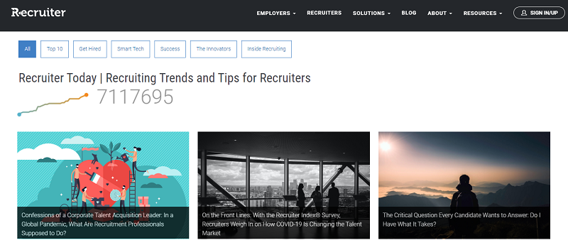 recruiter today blog homepage