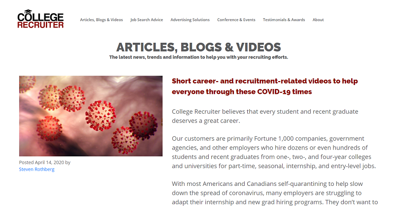 college recruiter blog