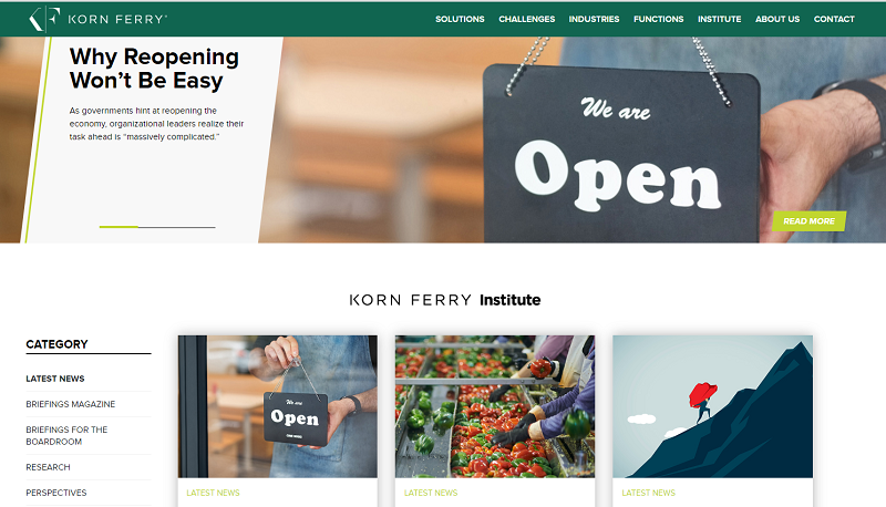 Korn Ferry HR blog homepage