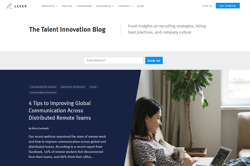 lever hr blog homepage