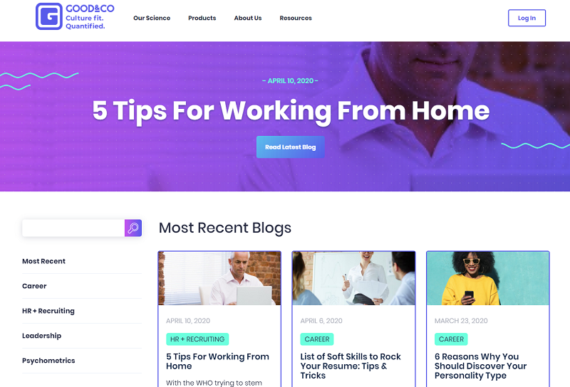 good and co hr blog homepage