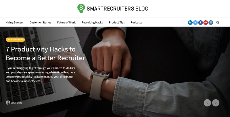 smartrecruiters hr blog homepage