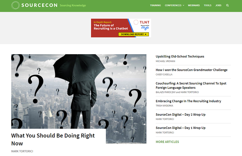 sourcecon blog homepage