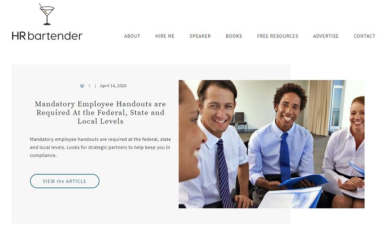 HR bartender blog homepage