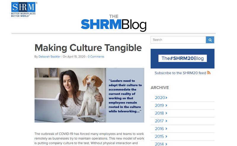 SHRM blog homepage