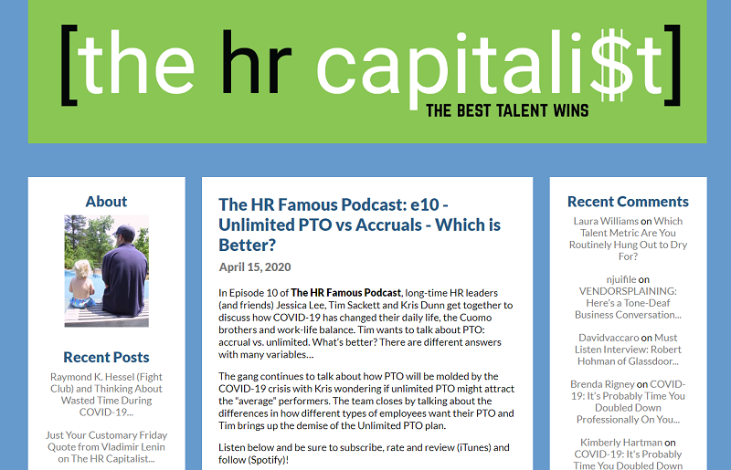 hr capitalist hr blog homepage