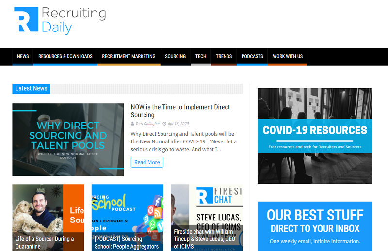 recruiting daily blog homepage