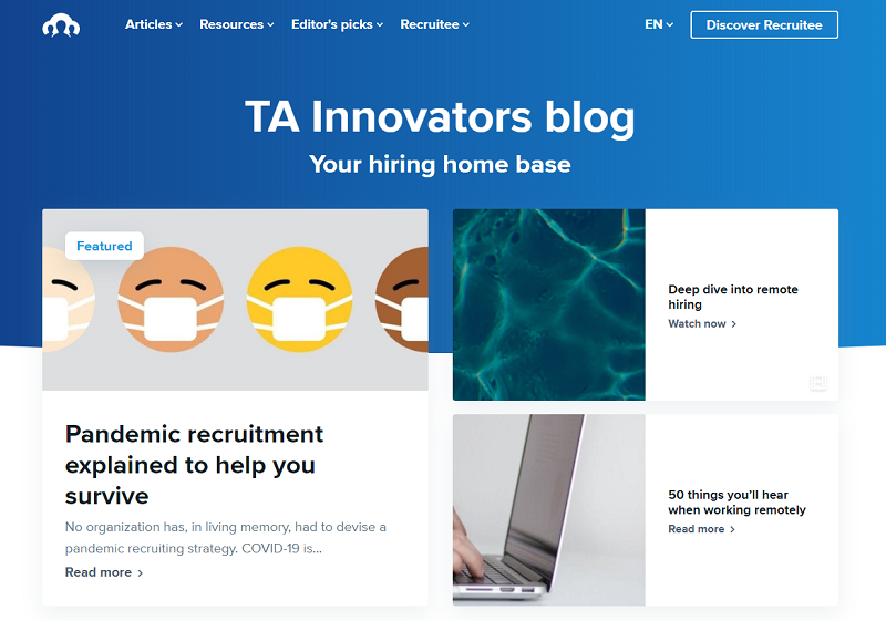 TA innovators blog homepage