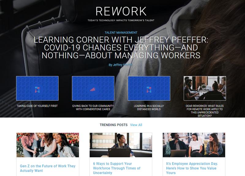 cornerstone ondemand rework blog homepage