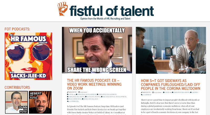fistful of talent hr blog homepage