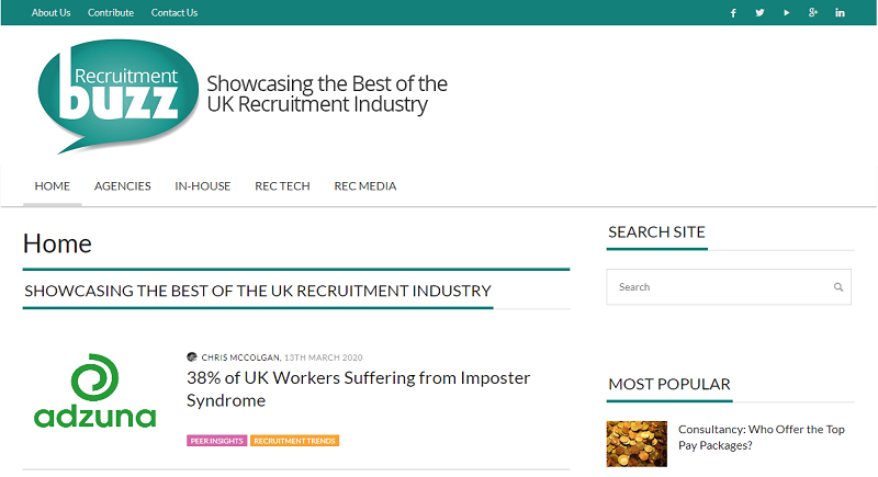 recruitment buzz blog homepage
