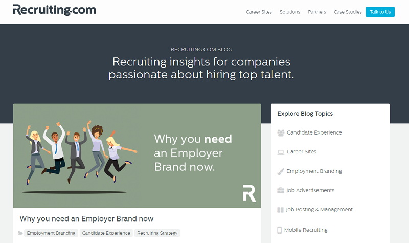 recruiting.com blog homepage