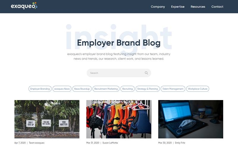 exaqueo employer brand blog
