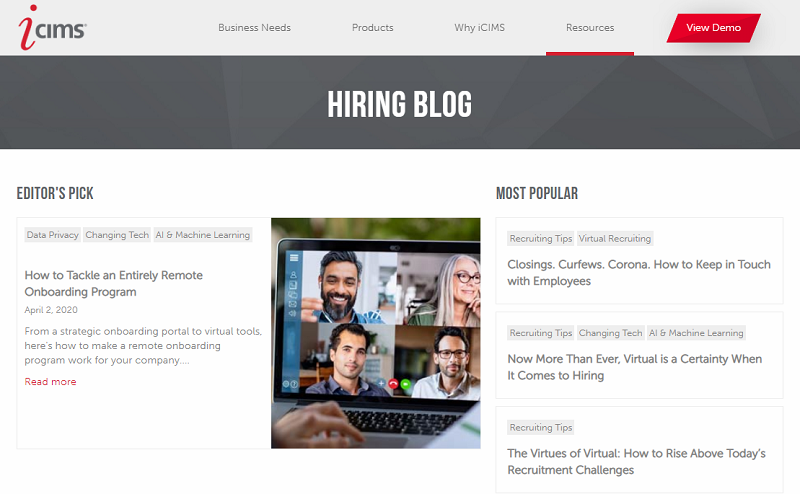 icims hiring blog homepage
