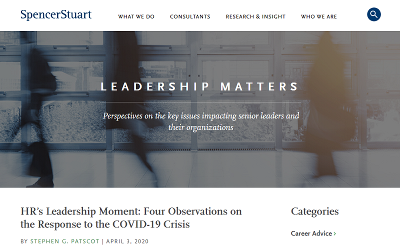 leadership matters blog homepage