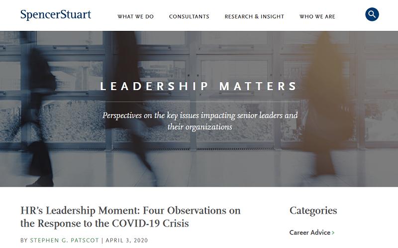 leadership matters blog homepage