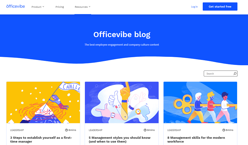 officevibe blog homepage