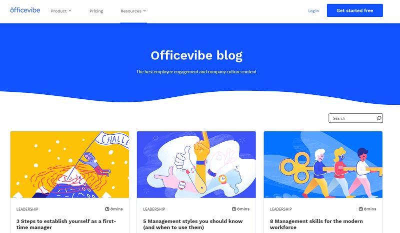officevibe blog homepage