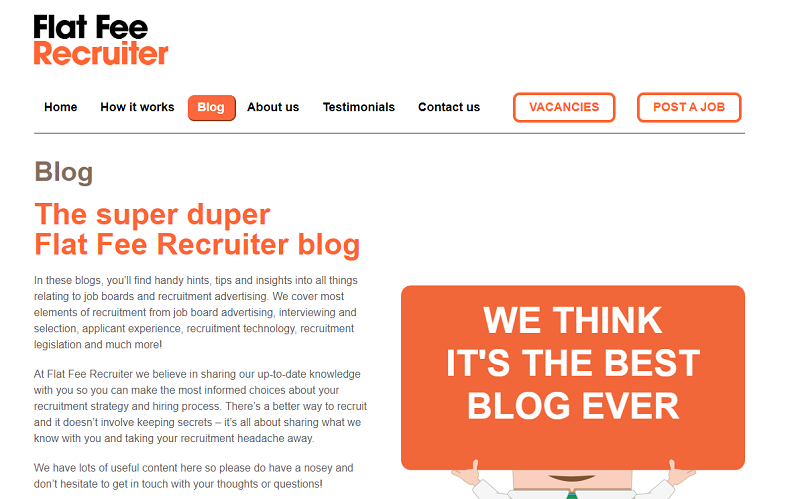 flat fee recruiter blog homepage