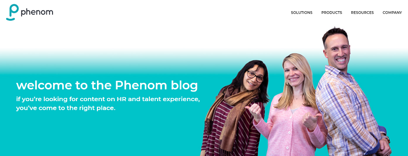 phenom people recruitment blog homepage