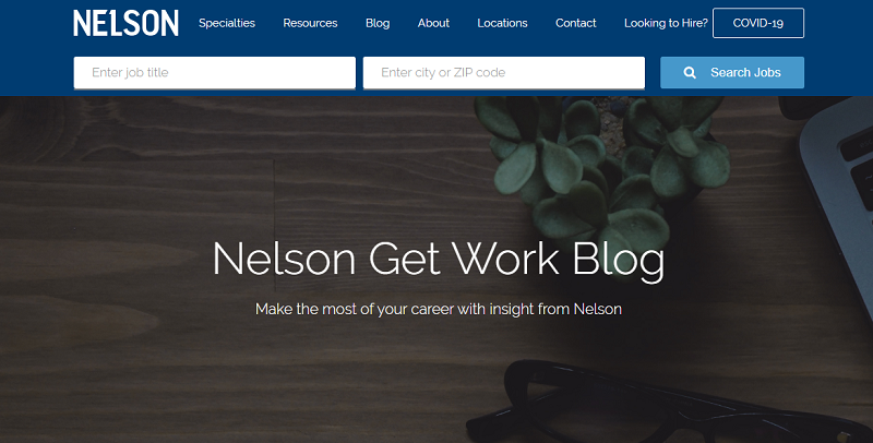 nelsonjobs blog homepage