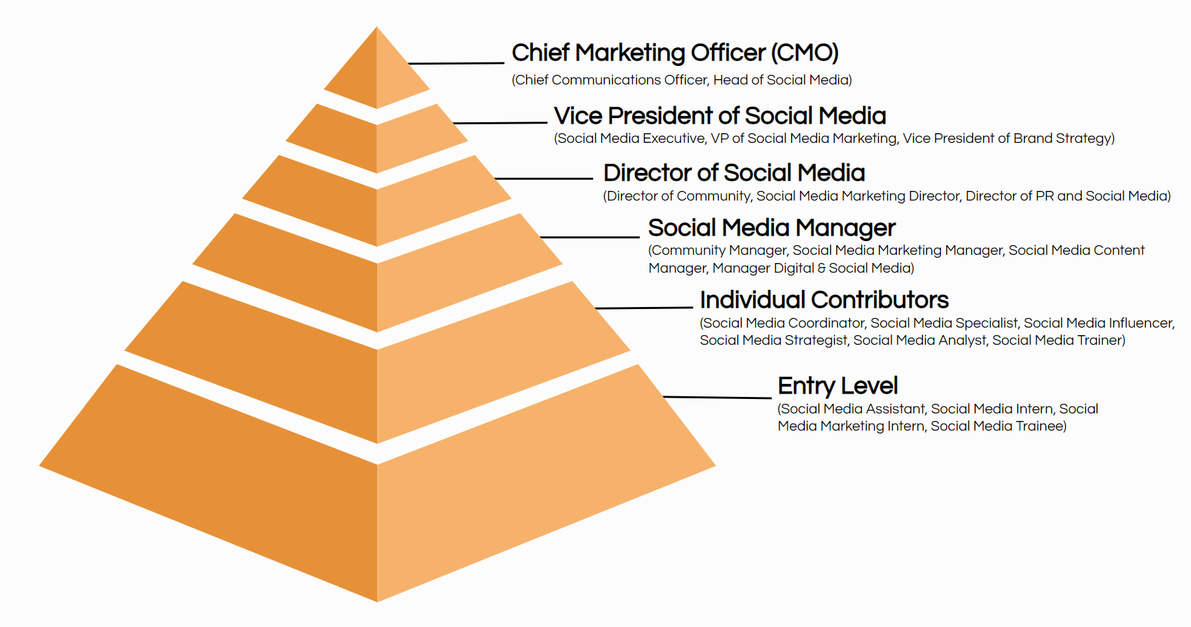 social media job titles hierarchy