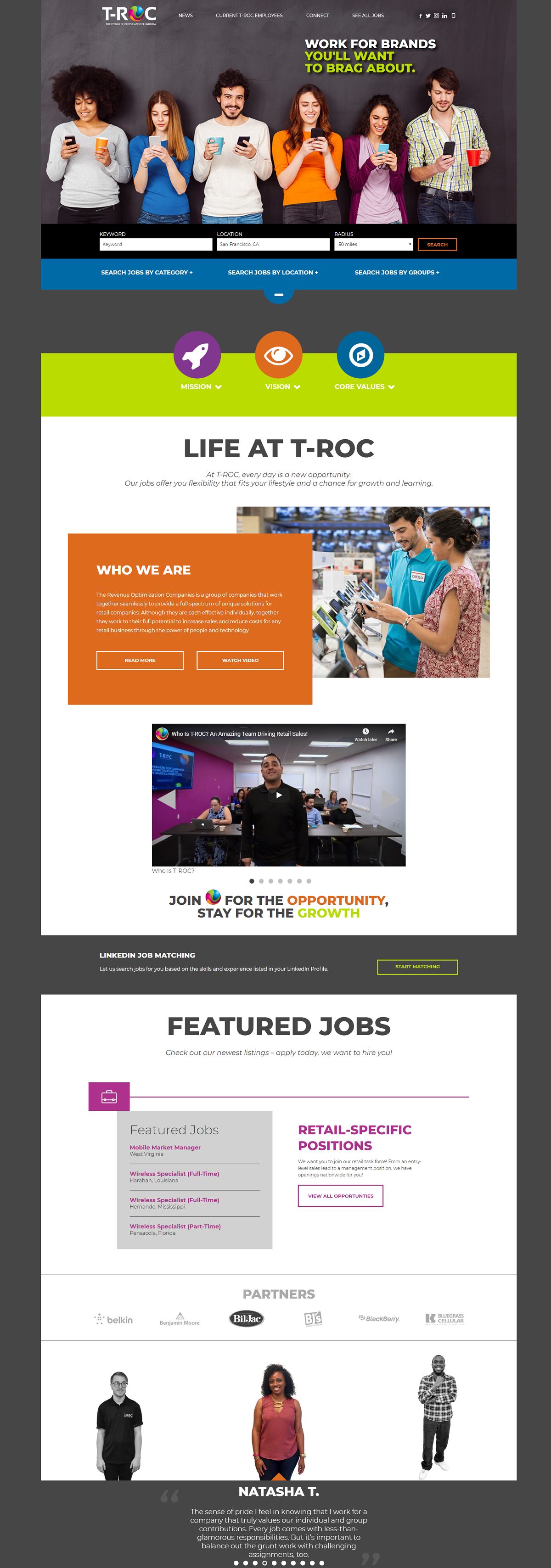 T-roc company career page