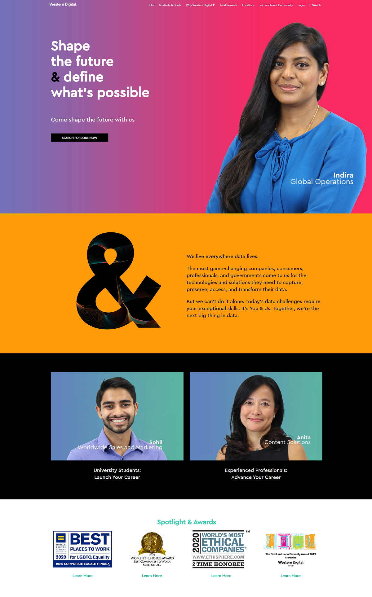 Western Digital company career page