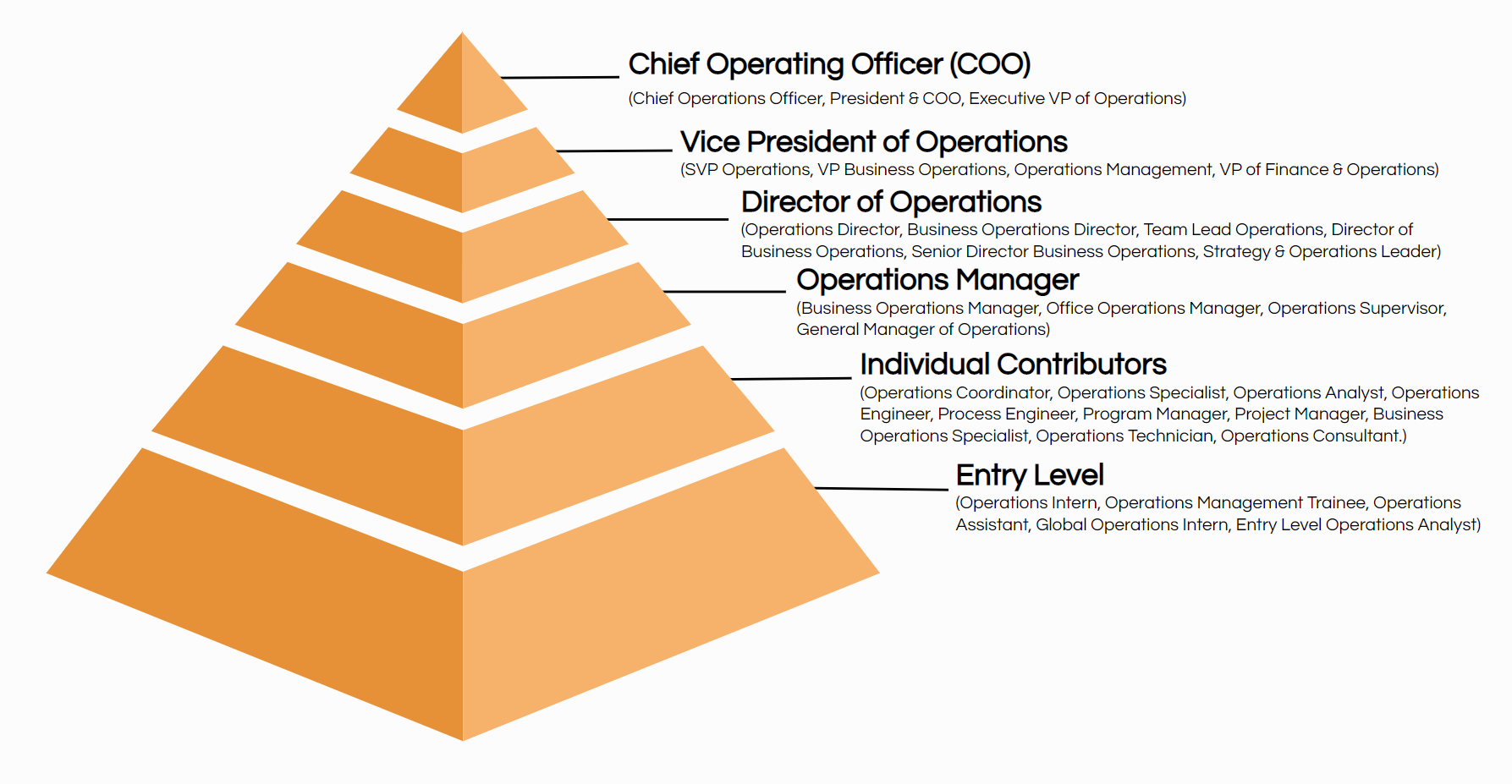 operations job titles hierarchy
