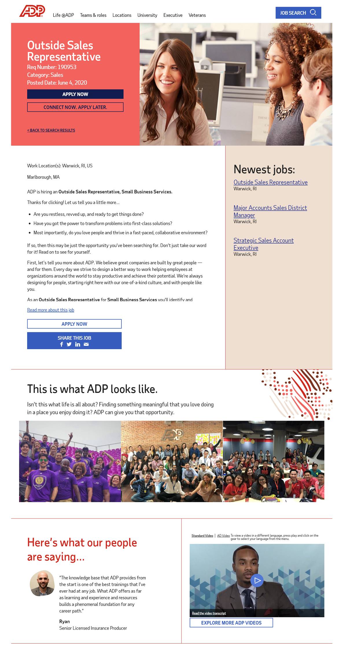 adp job description