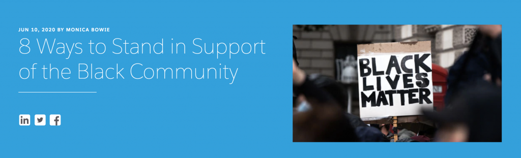 Salesforce Blog Supporting the Black Community