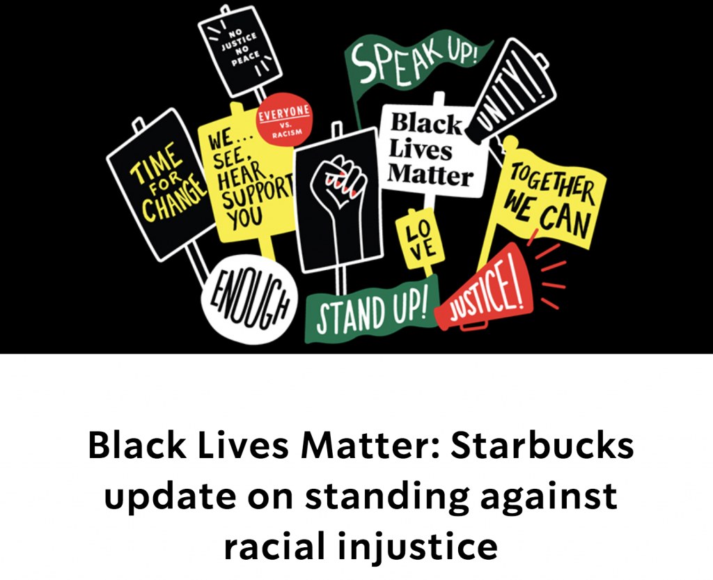 Starbucks Black Lives Matter