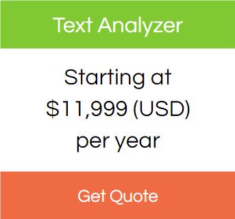Text analyzer pricing