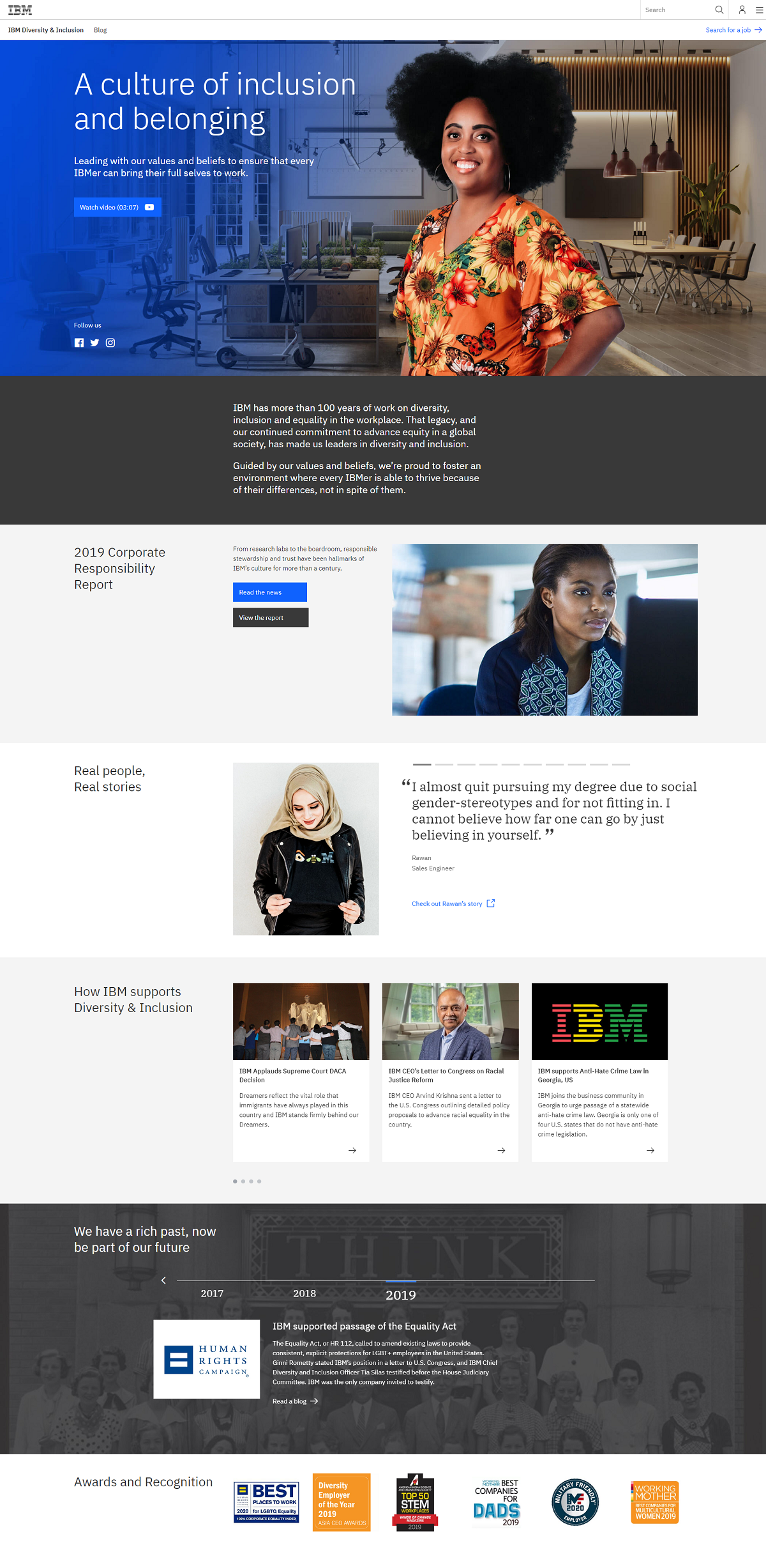 IBM diversity recruiting page