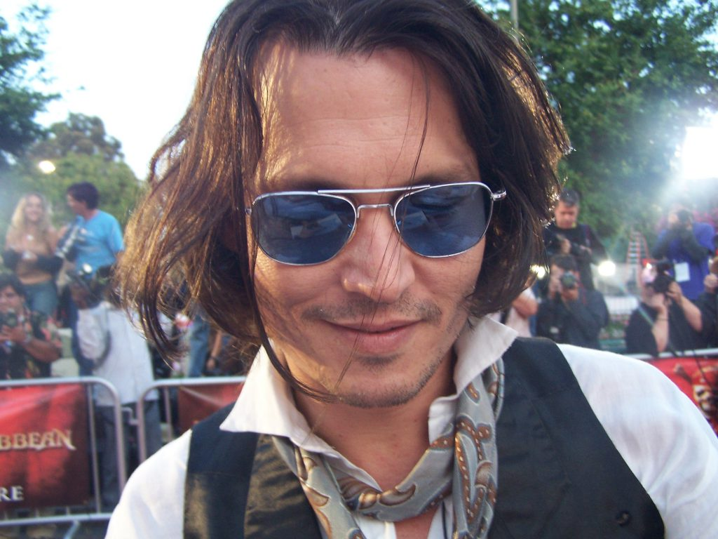 johnny depp blind