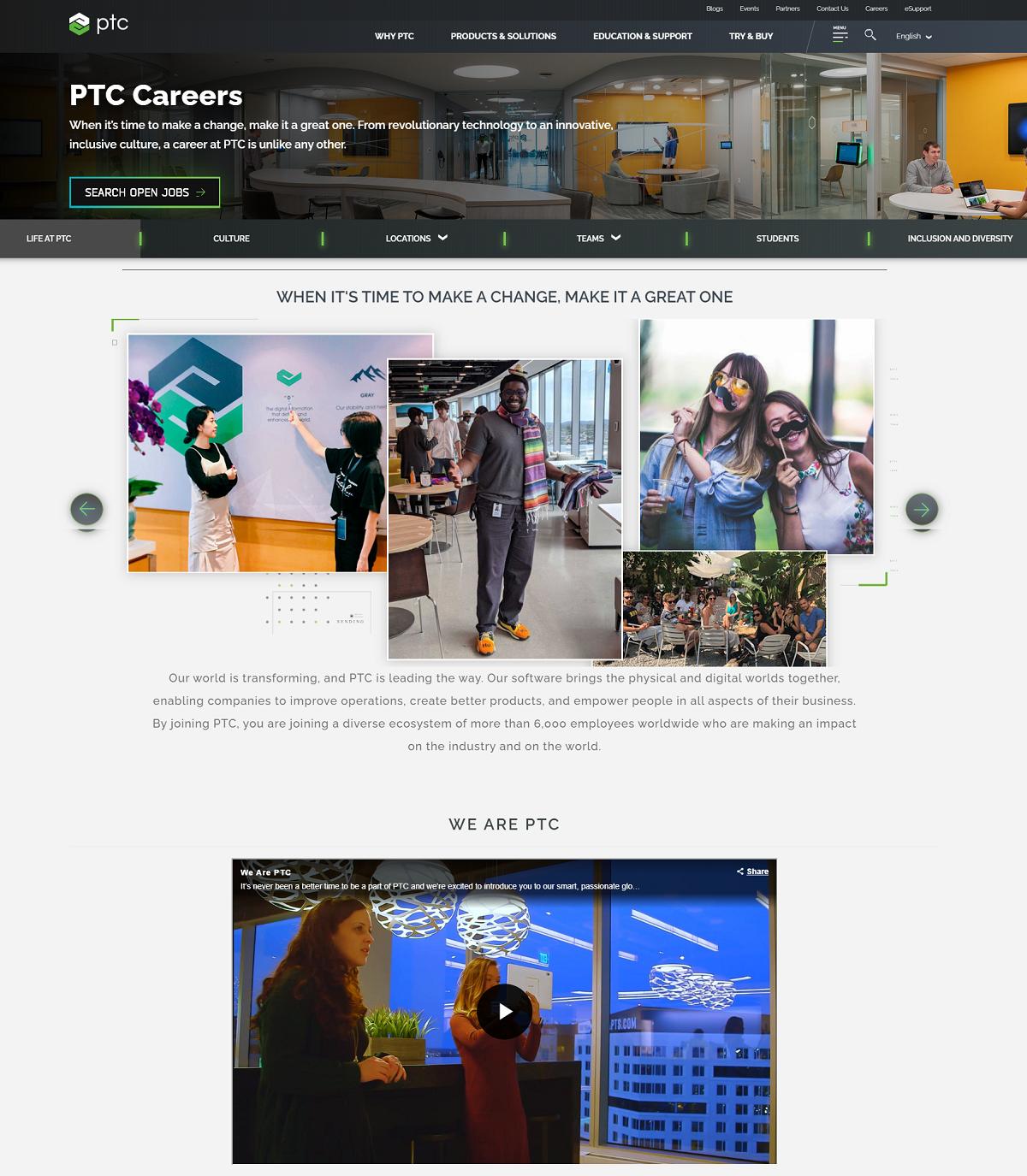PTC career page