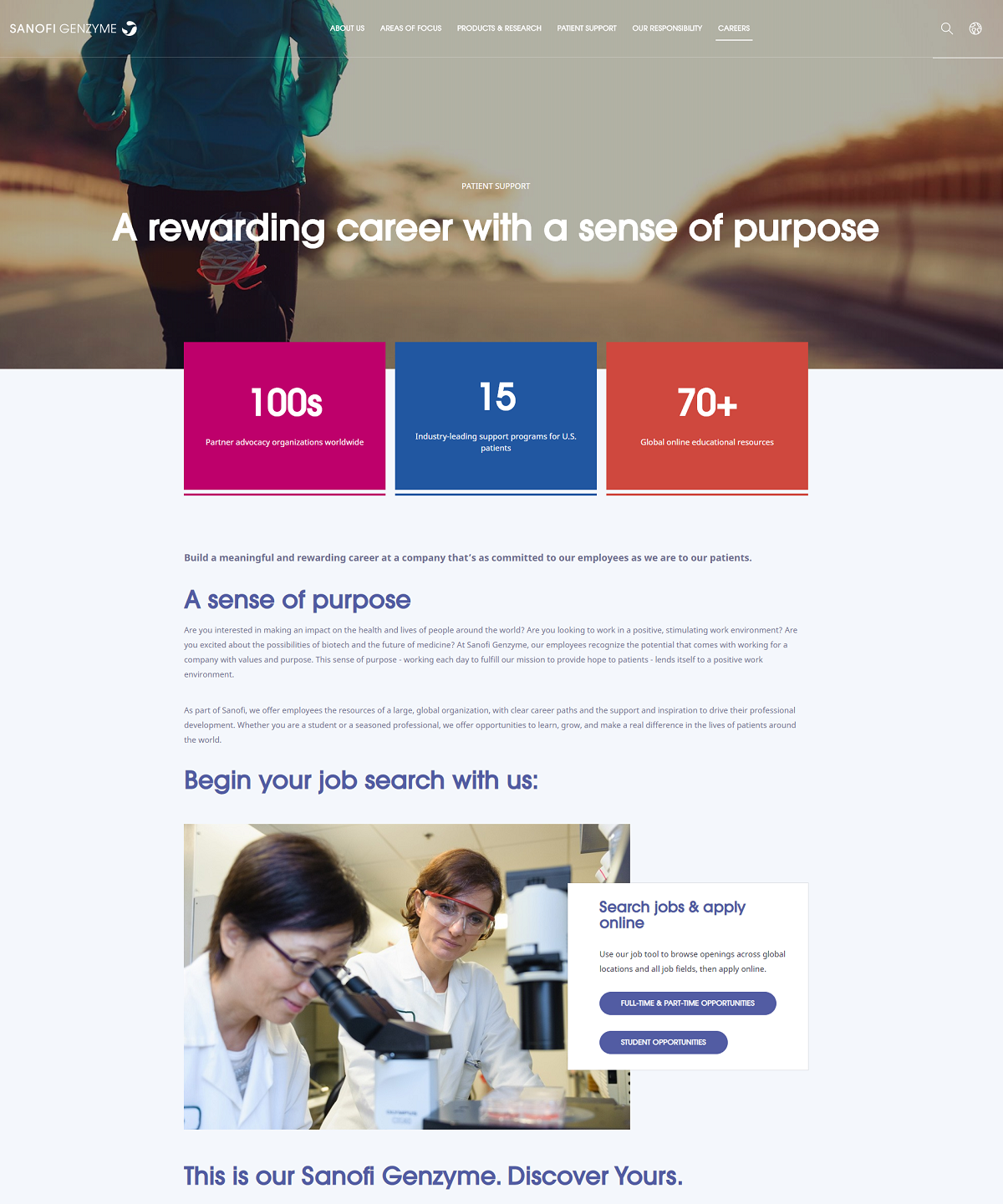 sanofi genzyme career page
