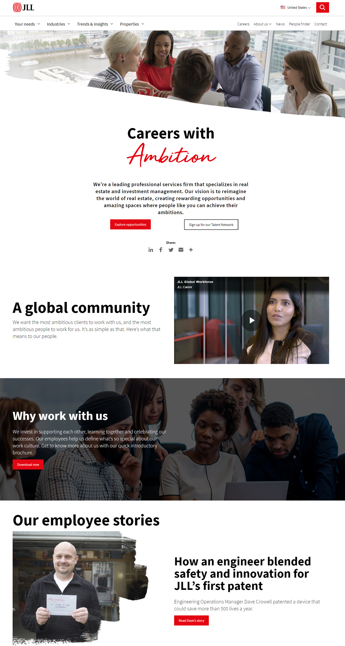 jones lang lasalle career page