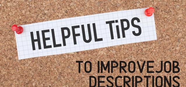 improve job descriptions