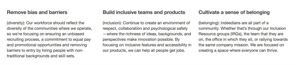 Inclusion mission statement indeed