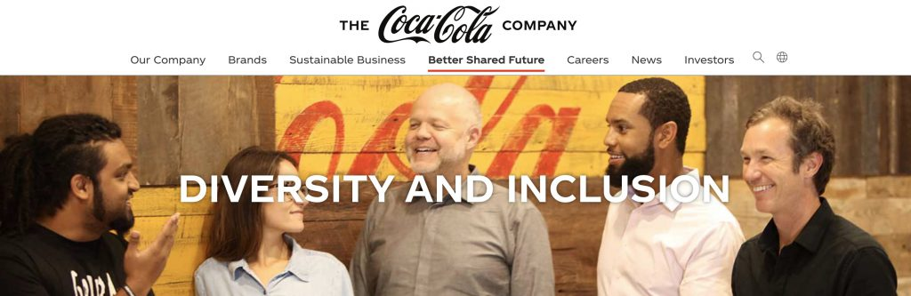 Diversity Inclusion mission coca-cola