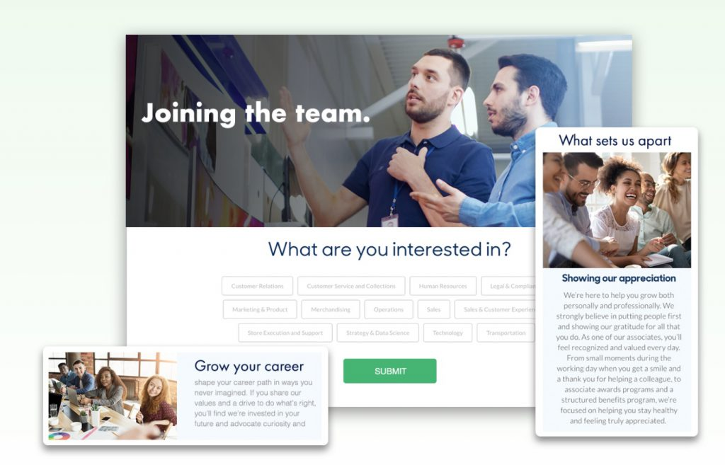 phenom people career page builder