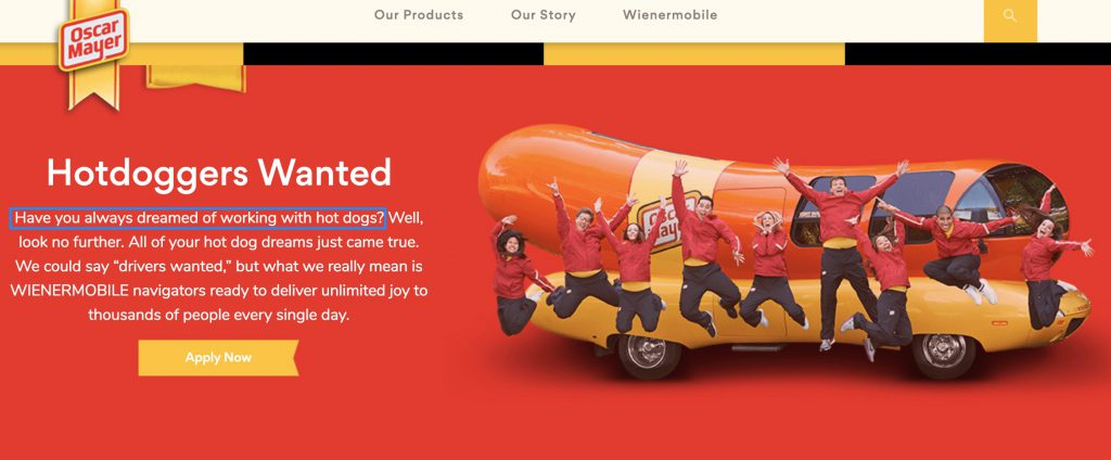 Wienermobile dream job