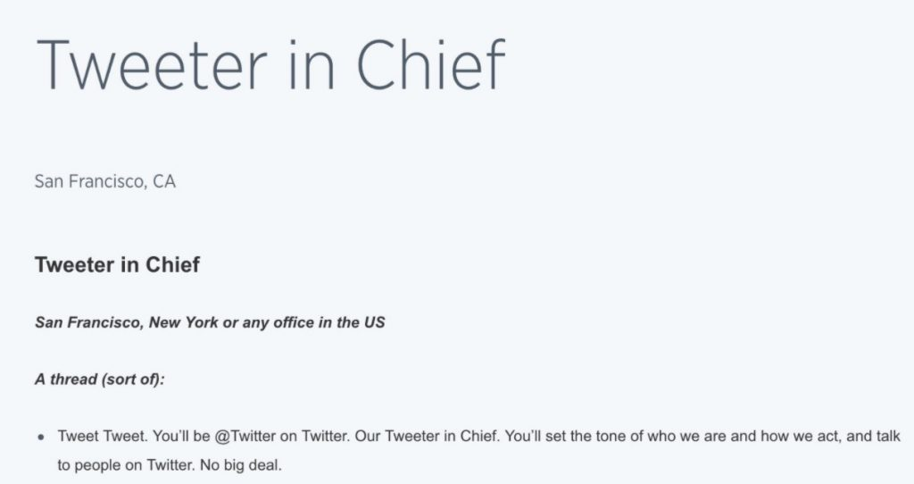 tweeter_in_chief catchy job titles