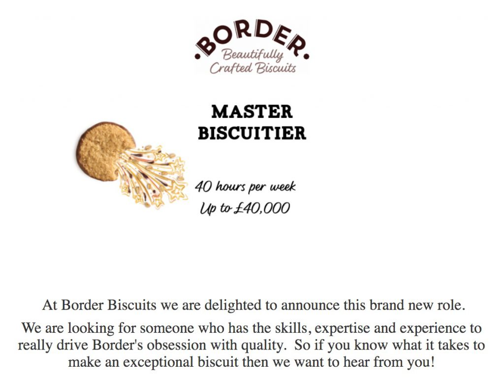 master biscuitier catchy job titles