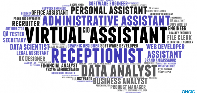 top job titles word cloud
