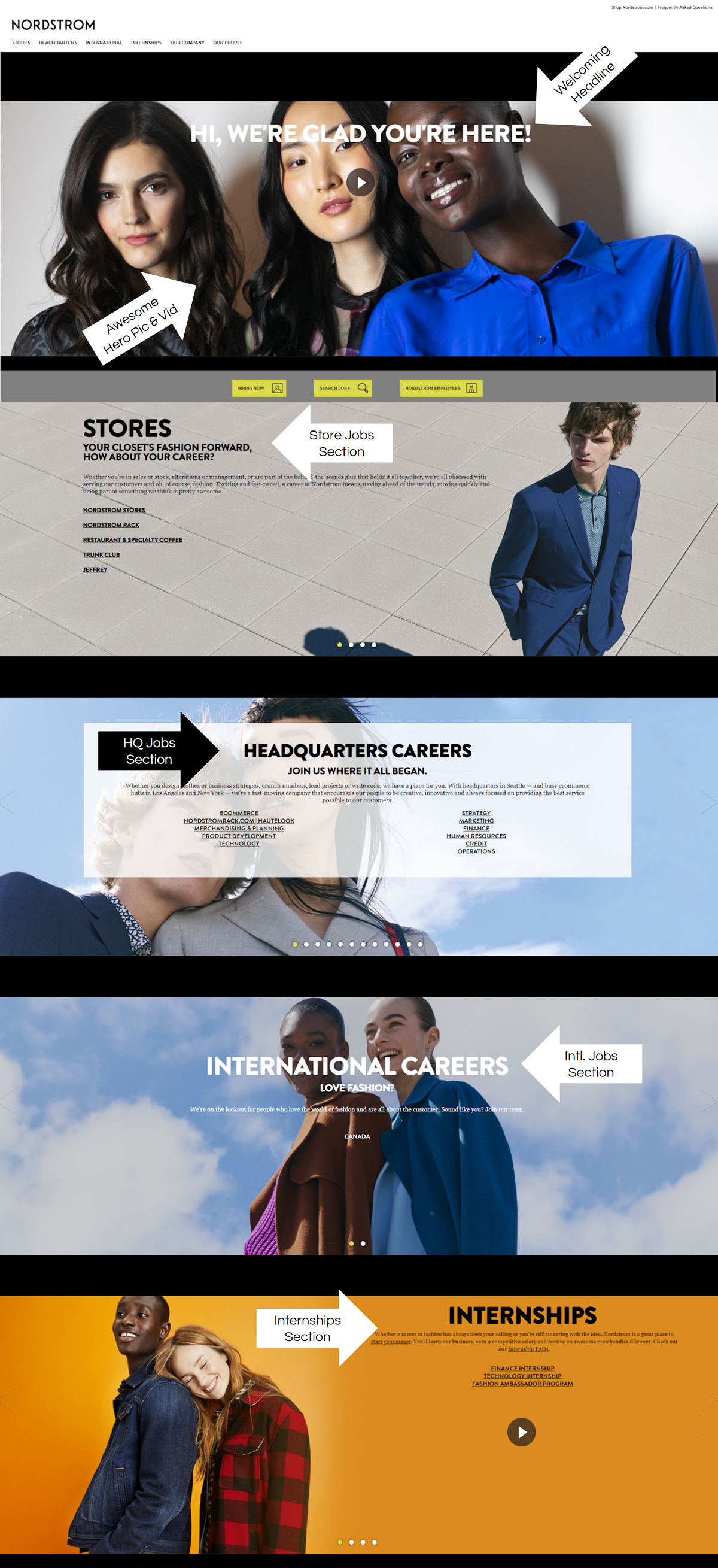 nordstrom company career page